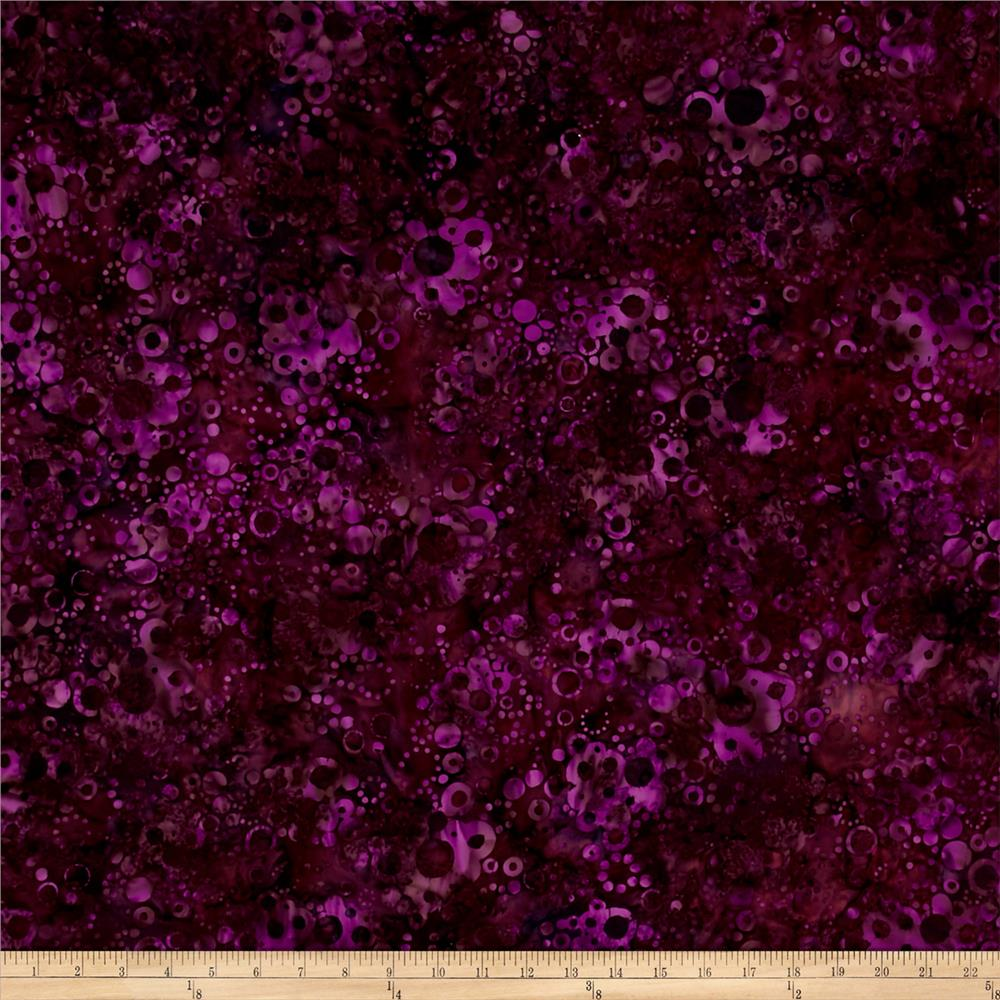 Bali Batiks Handpaints Bubble Dots Marsala
