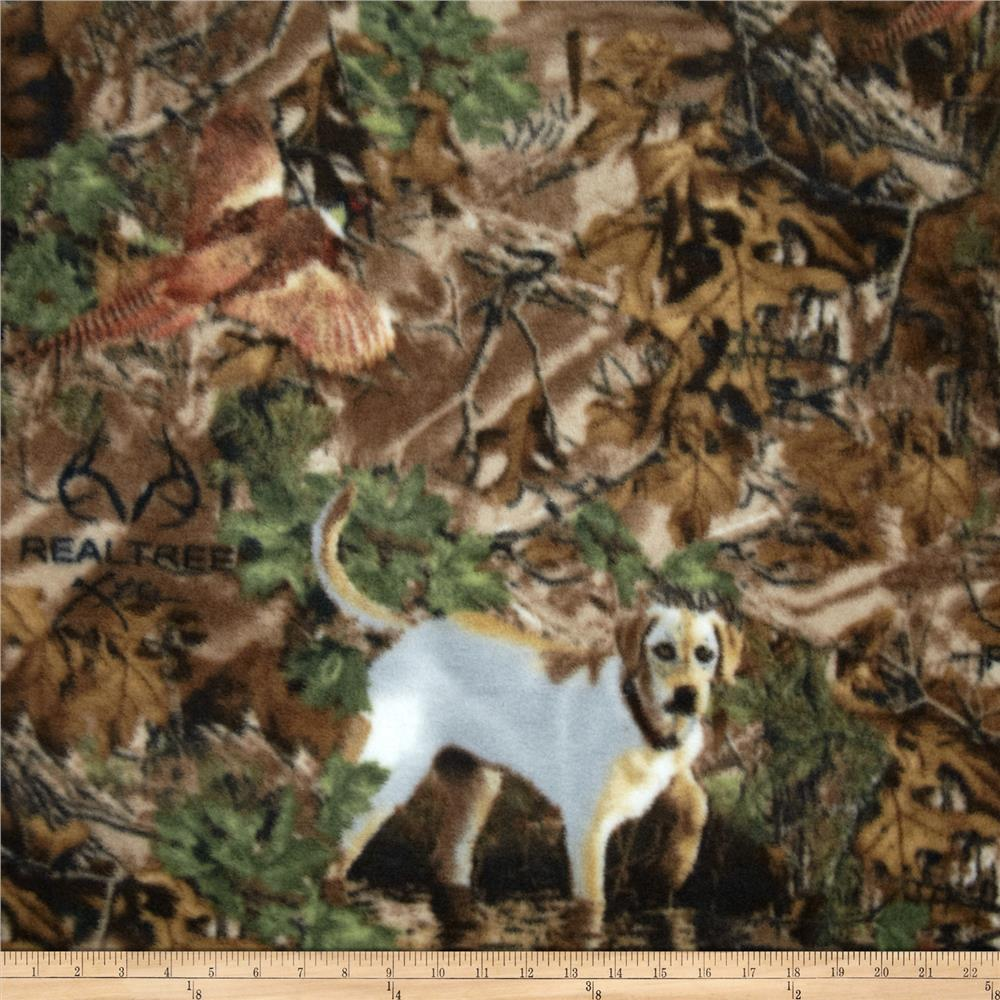 Realtree Fleece Dogs in Woods Multi