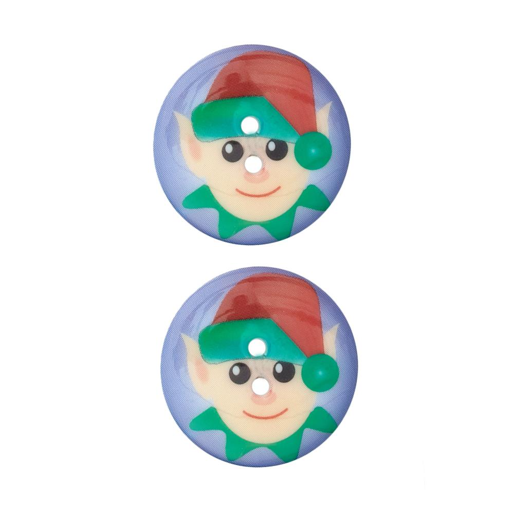 Novelty Winter Wonder Button 1 1/8'' Elf