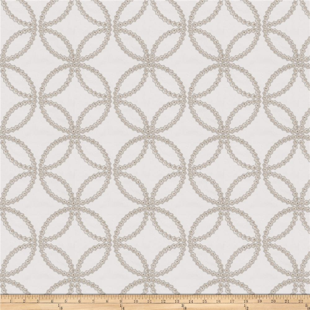 Fabricut Reconciliation Embroidered Twill Grey