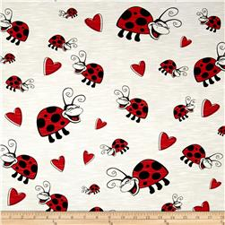 Children's Cotton T-Knits Lady Bug on White