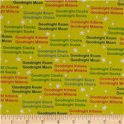 Goodnight Moon Words Yellow