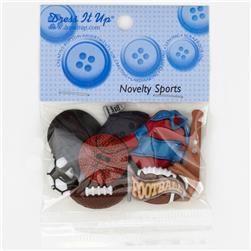 Dress It Up Embellishment Buttons  Novelty Sports