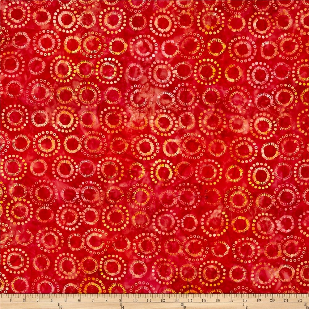 Anthology Batik Circles Coral/Yellow