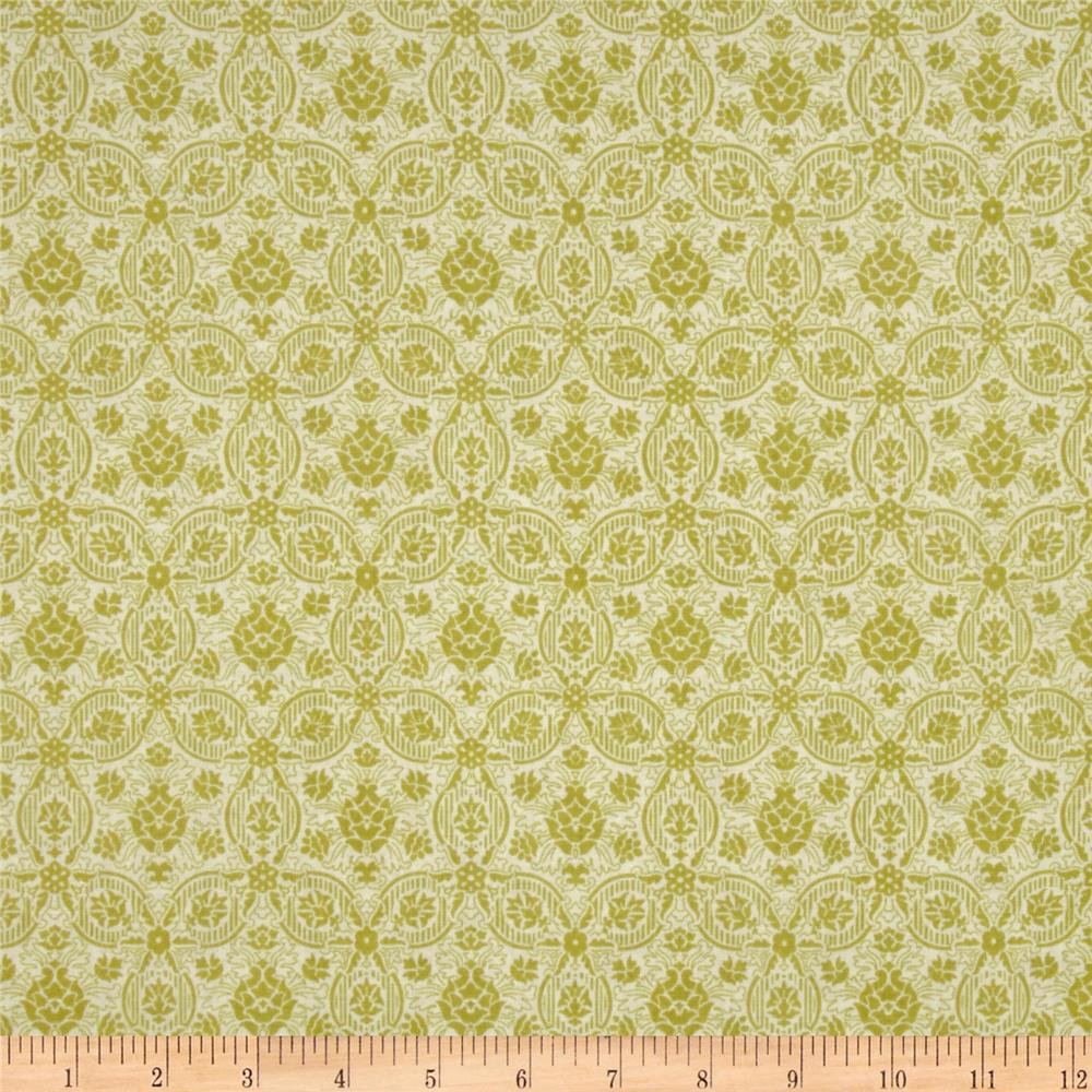 Savannah Petal Medallions White/Green