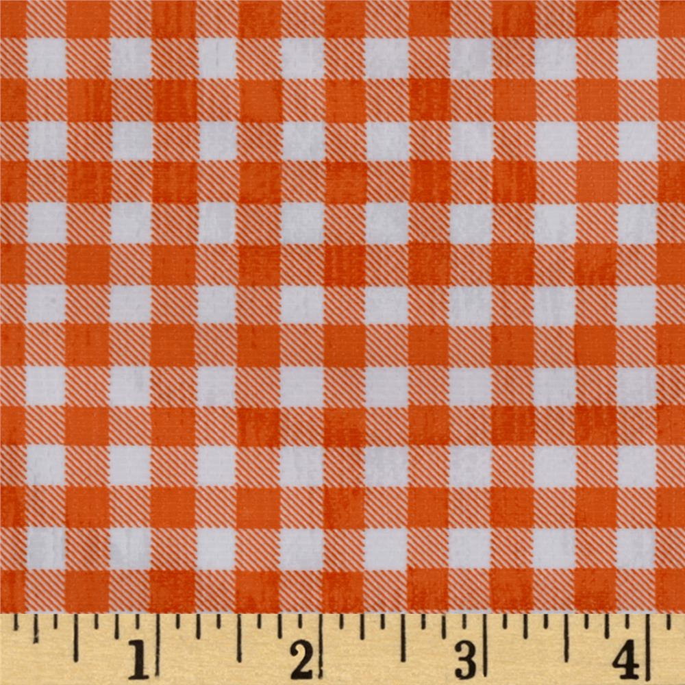 Oilcloth Gingham Orange