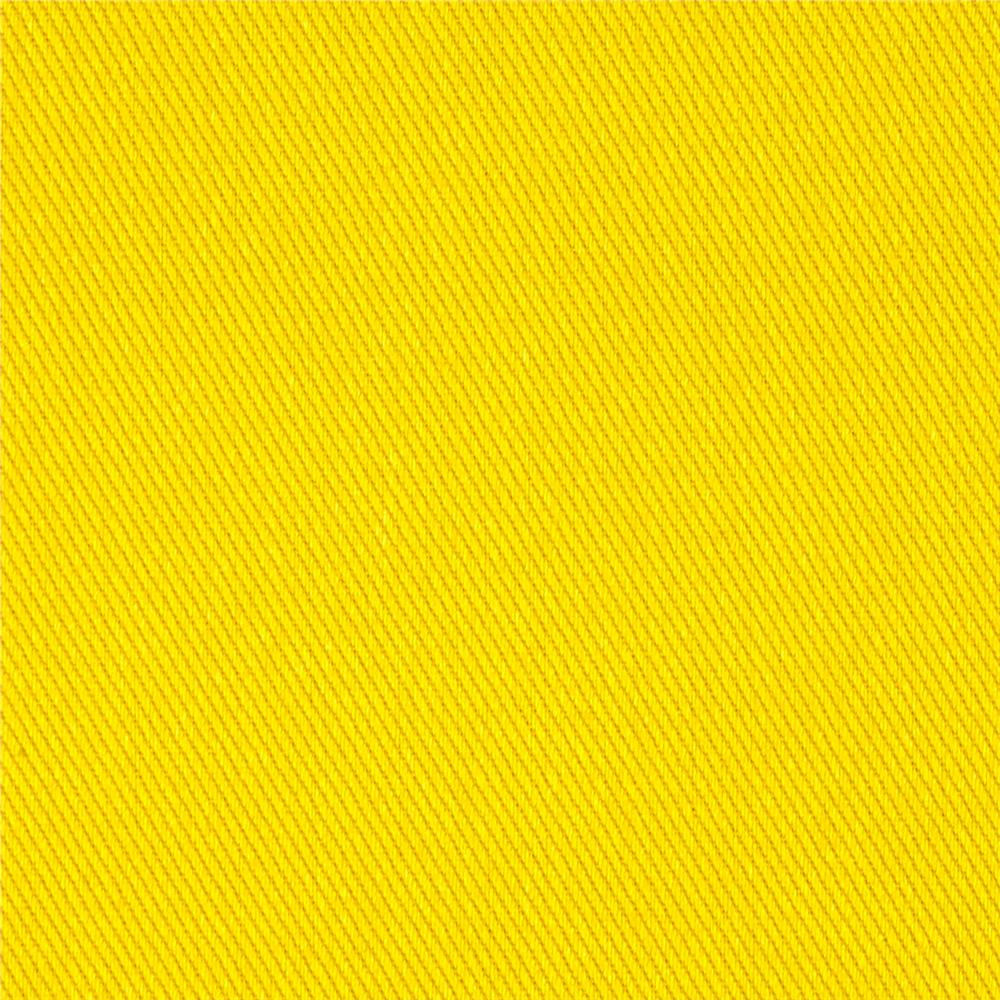 Kaufman ventana twill solid lemon yellow discount for Fabric cloth material