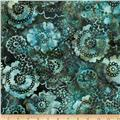 Bali Batiks Scalloped Floral Big Sur