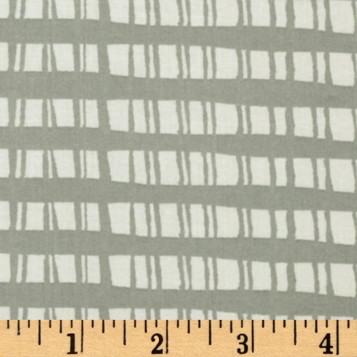 Festive Forest Fence Plaid Grey