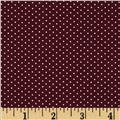 Telio Morocco Blues Stretch Poplin Pindot Maroon/White