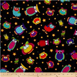 Happy Owl-O-Ween Owls Everywhere Toss Bat Black