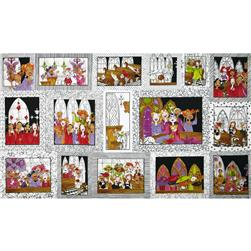 Loralie Church Ladies Panel Picture Patches White
