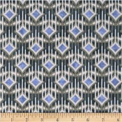 Facets Diamond Stripe Metallic Blue