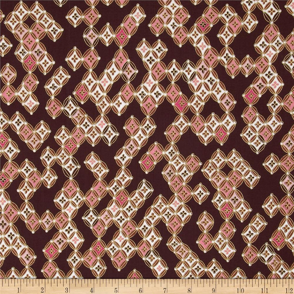Kanvas Sakura Metallic Sakura Diamonds Brown