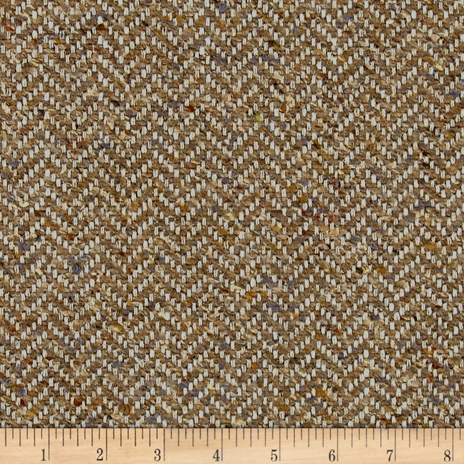 Clarence House Maxwell Tweed Hickory Fabric