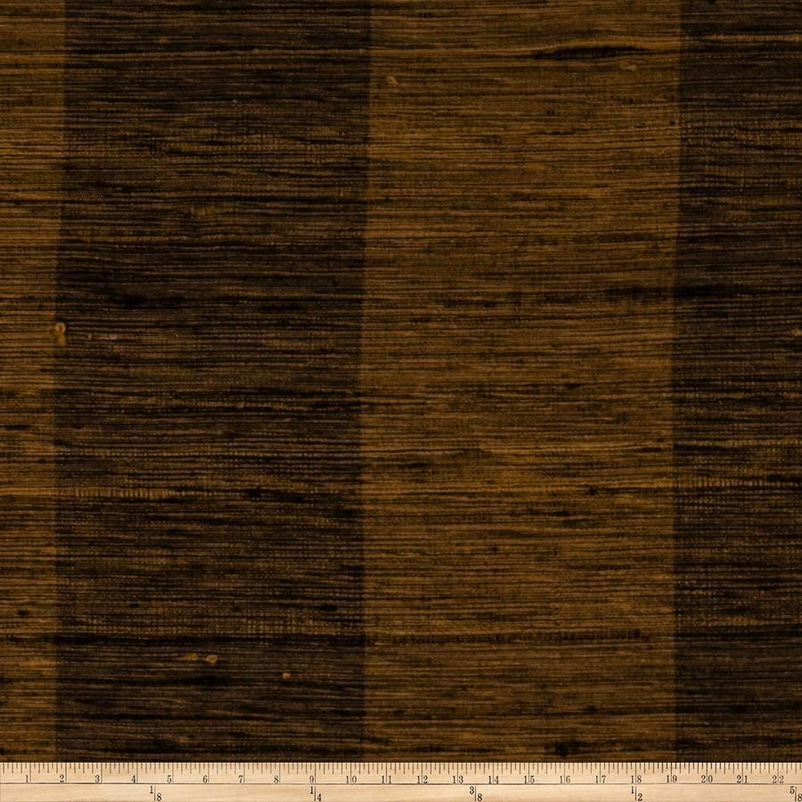 Fabricut Shalini Stripe Silk Brown