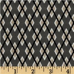 Michael Miller Argyle Me Taupe