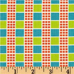 Next Wave Stripe Grid Turquoise