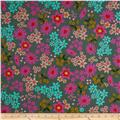 Cotton & Steel Playful Lawn Vintage Floral Teal