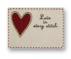 JHB Woven Label Love/Every Stitch (6437)