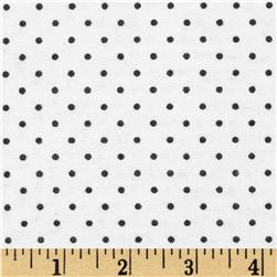 Aunt Polly's Flannel Mini Polka Dot White/Black