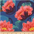 Michael Miller Koi Garden Blooming Lotus Red