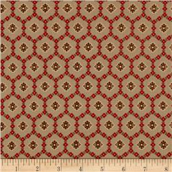 Flower Honeycomb Brown/Red/Green