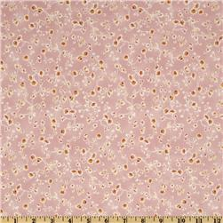 Leila Rose Small Floral Vines Pink