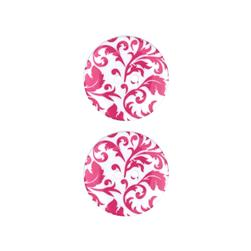 Dill Novelty Button 1'' Flourish Hot Pink