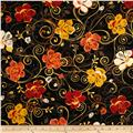 Saffron Ground Large Floral Black