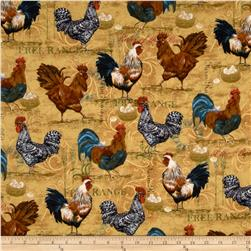Rooster Collage Straw