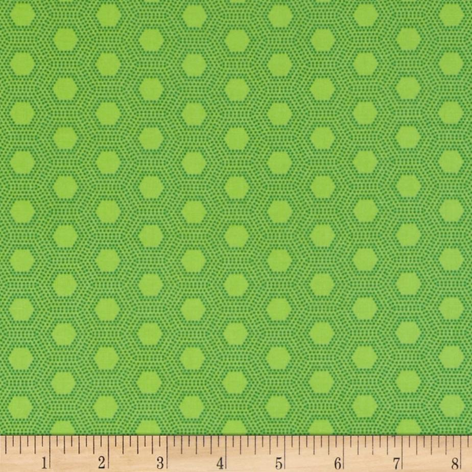 Jungle Things Hexies Lime
