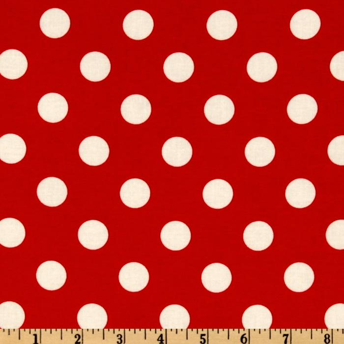 Michael Miller Quarter Dot Red