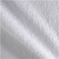 Heavyweight Terry Cloth Cuddle Velour White