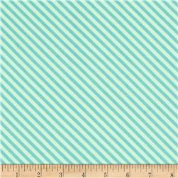 Riley Blake Fancy Free Flannel Stripe Teal