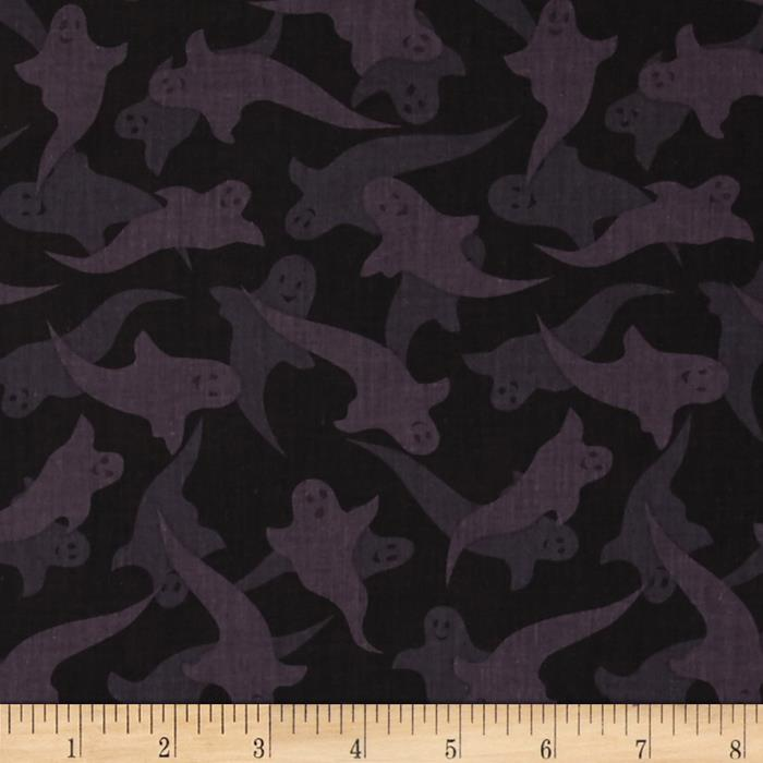 Haunted Hill Tonal Ghosts Black