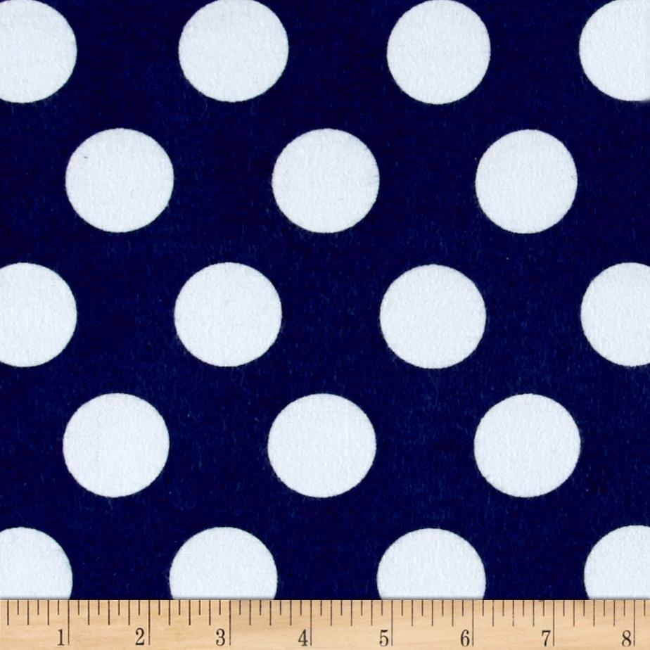 Comfy Flannel Dots Navy