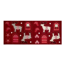 When I Met Santa's Reindeer Ornament 18 In. Panel Red
