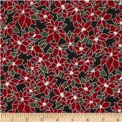Winter Wishes Poinsettia Metallic Ice/Silver