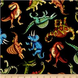 Jurassic Jungle Dinosaurs Black