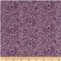 Windham Secrets and Shadows Fan Floral  Purple