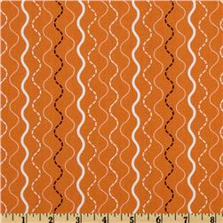 Michael Miller Shore Thing Makin Waves Stripe Orange