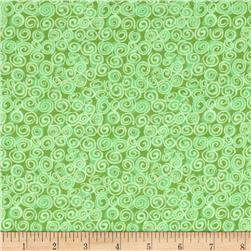 Cuddle  Flannel Swirls Green