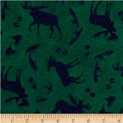 Mountain Lodge Flannel Tossed Moose Green/Navy