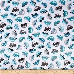 Shannon Minky Cuddle Prints Honk! Teal