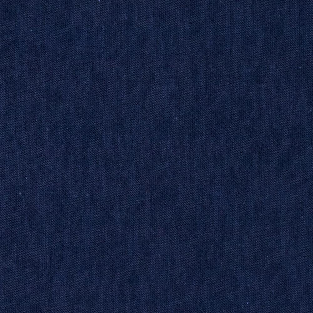 Jersey Cotton Slub Knit Dark Blue