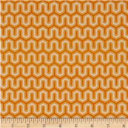 Riley Blake Flannel Simply Sweet Zig Zag Orange