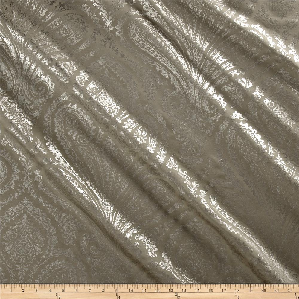 Waverly Paisley Aglow Twill Pewter