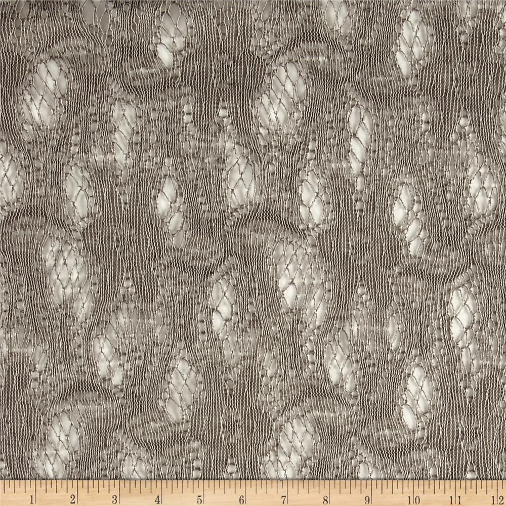 Floral Crochet Lace Grey