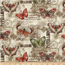French Quarter Papillon Multi Natural